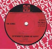 THE KINKS Ev'rybody's Gonna Be Happy Vinyl Record 7 Inch Pye 1965